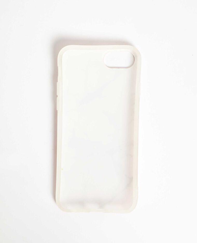 Coque compatible iPhone effet marbre rose