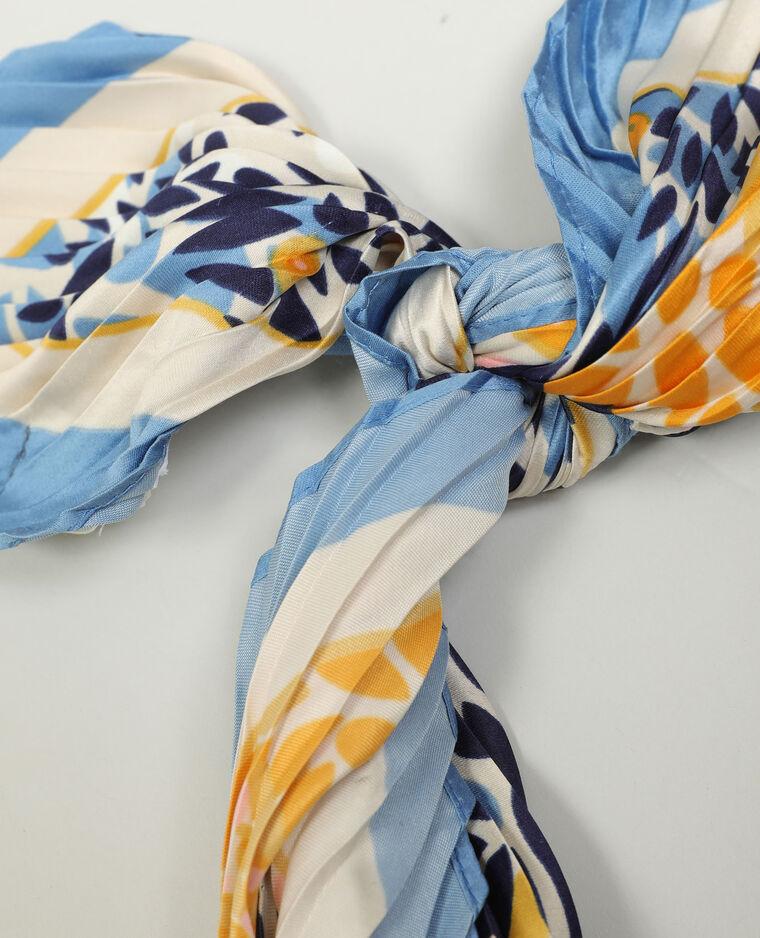Foulard fleuri bleu - Pimkie