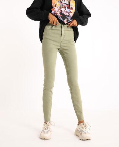 Jean skinny high waist kaki