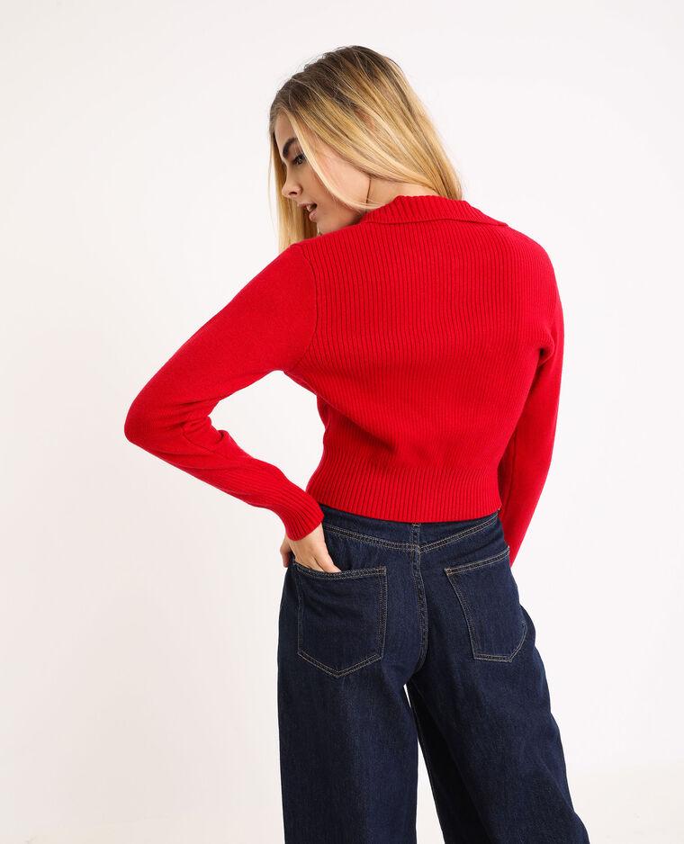 Gilet zippé rouge