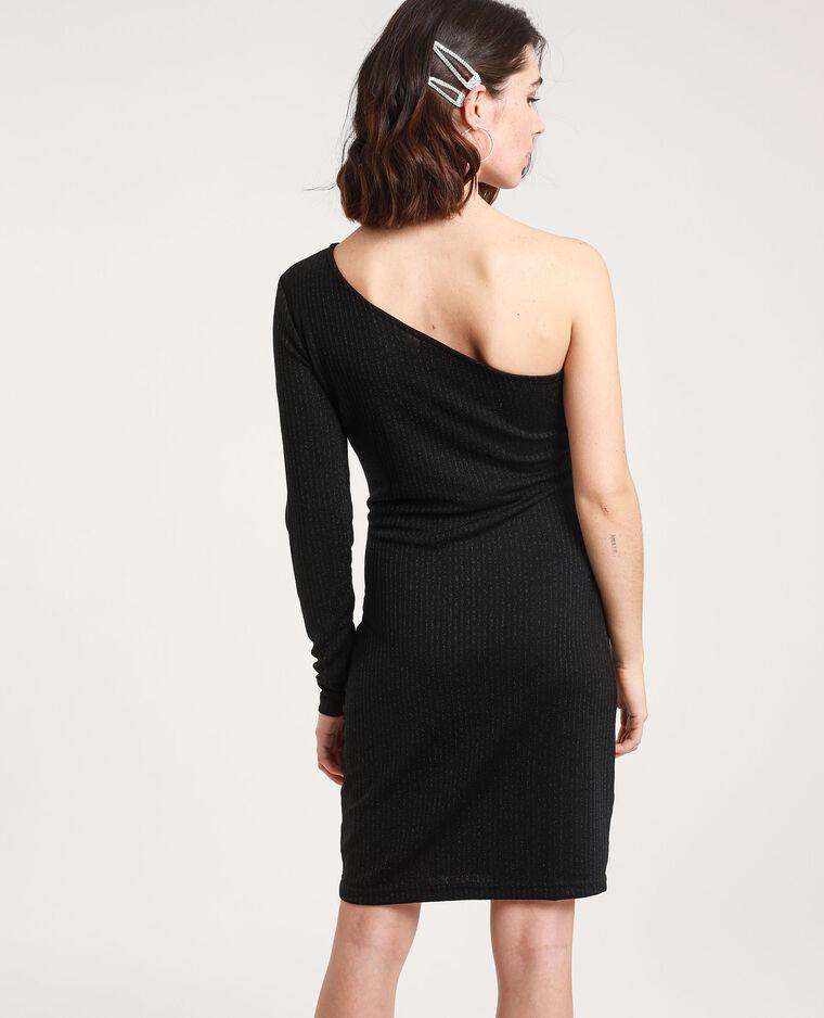 Robe asymétrique paillettée noir - Pimkie