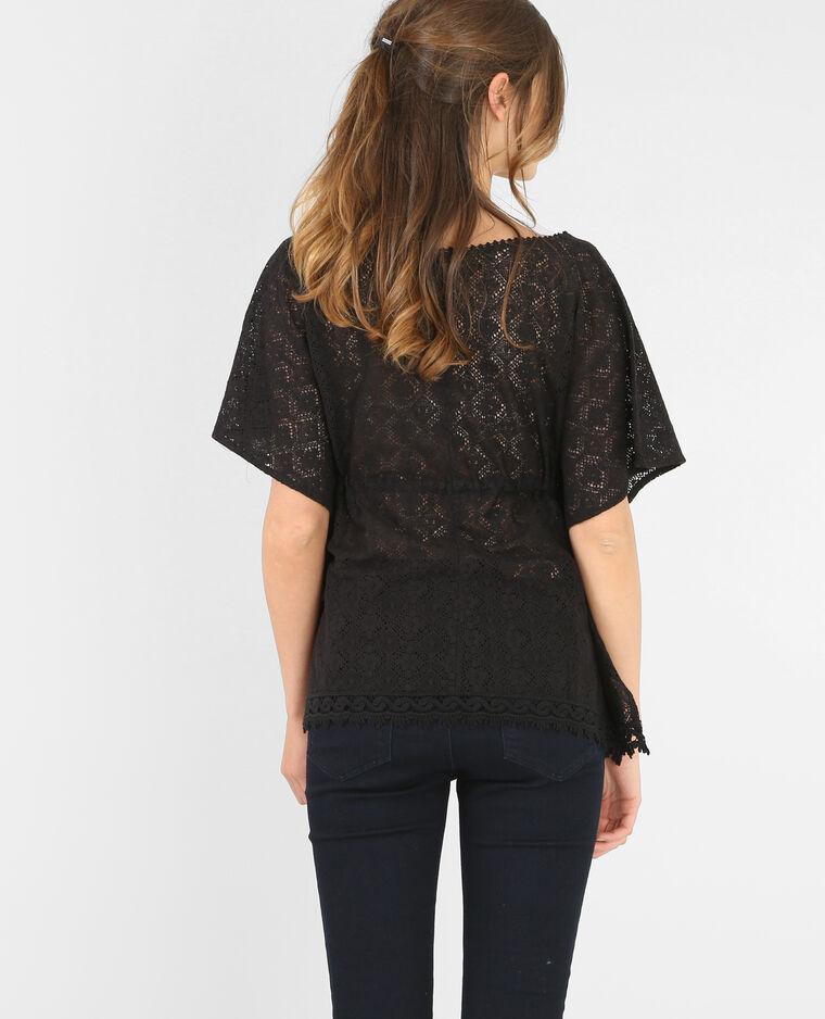 T-shirt macramé ceinturé noir - 482101899A08   Pimkie 61e069a962a4