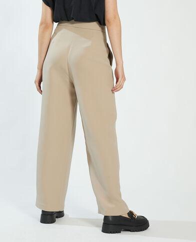 Pantalon à pinces beige - Pimkie