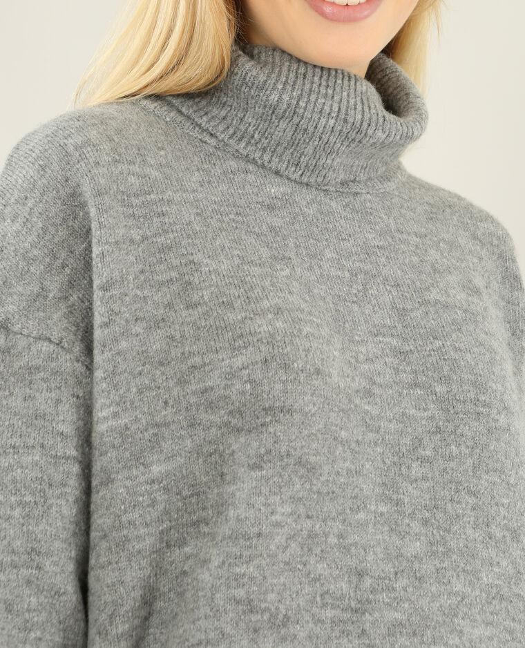 Robe pull à col roulé gris chiné - Pimkie