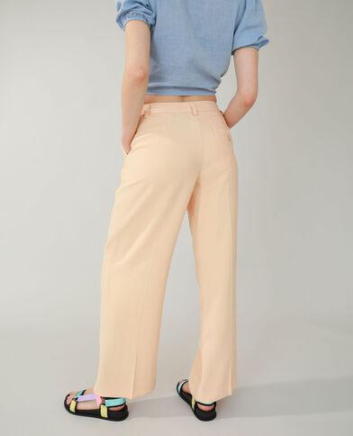 Pantalon wide leg taille basse beige - Pimkie