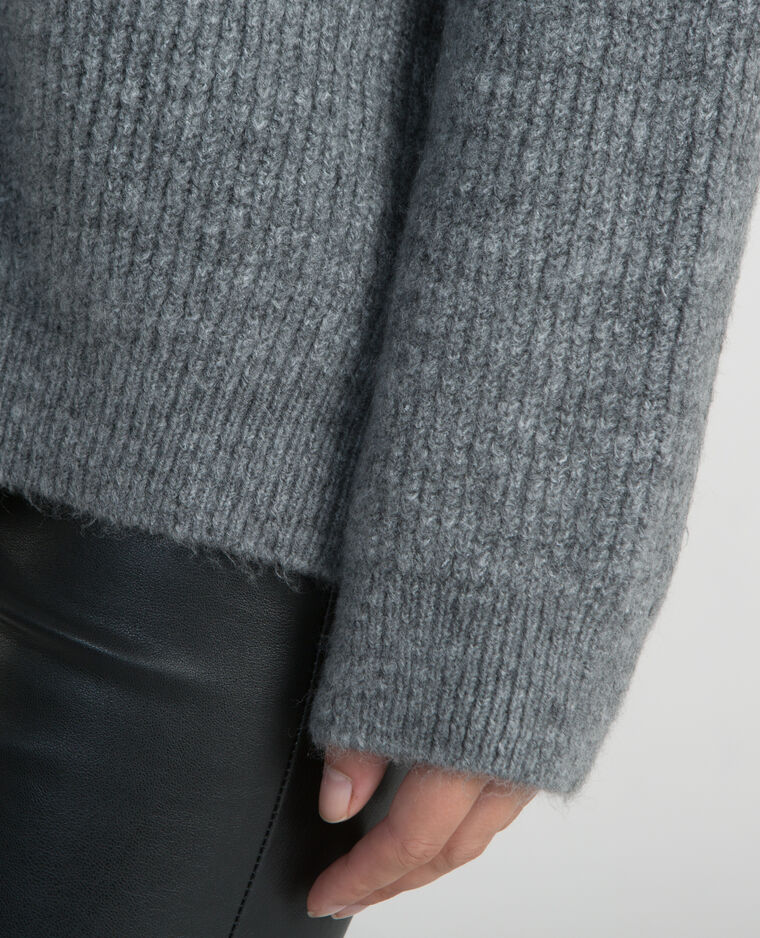 Pull oversize gris chiné