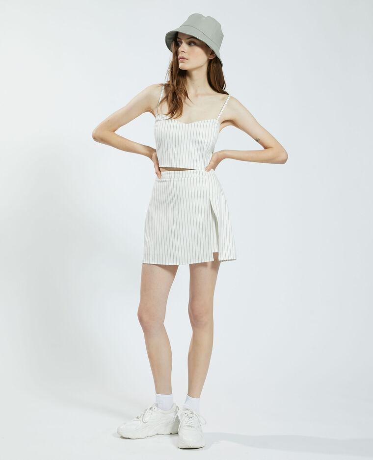 Jupe-short rayée noir - Pimkie