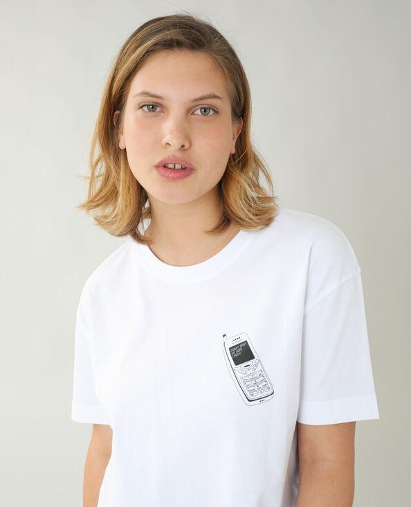 T-shirt ample téléphone blanc