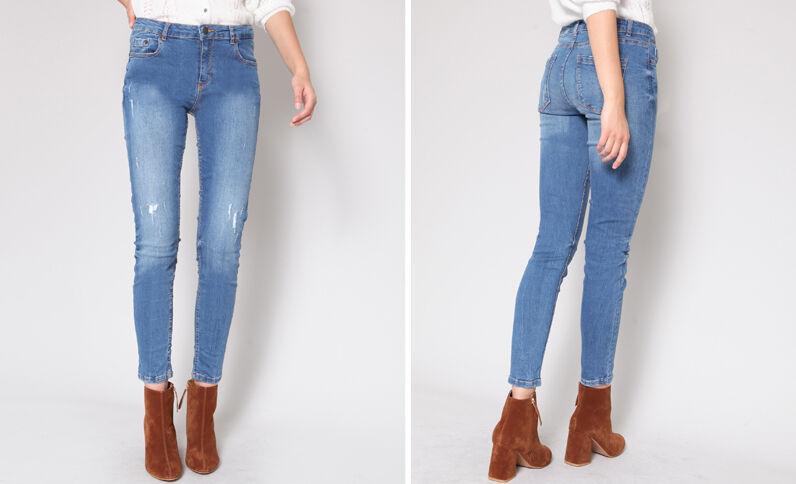 Jean skinny mid waist bleu foncé