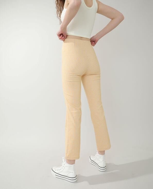 Pantalon flare Vichy jaune