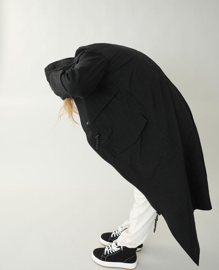 Manteau long coupe-vent noir - Pimkie