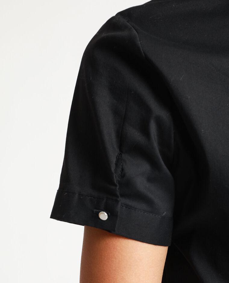 Chemisier à manches courtes noir