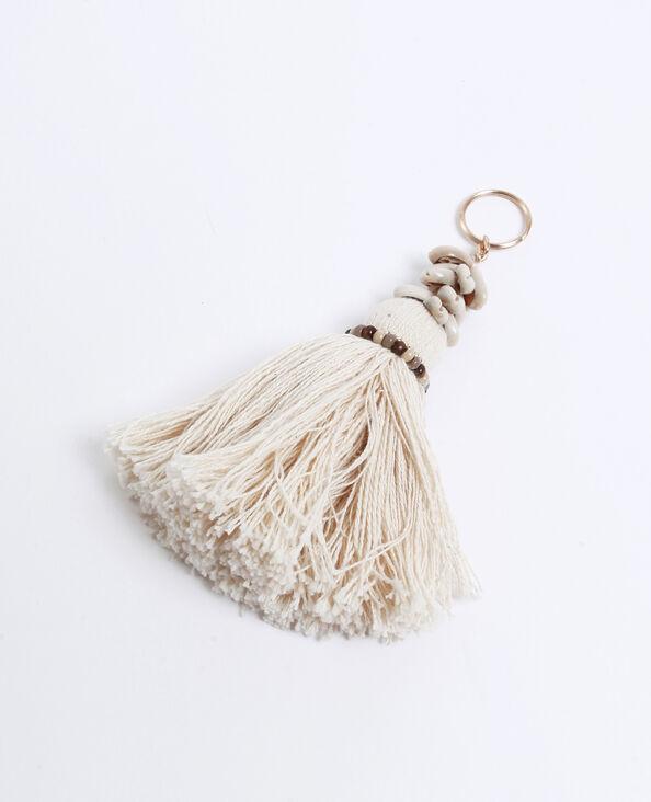 Porte-clés coquillages beige ficelle