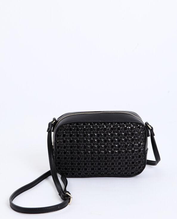 6b622e035d Petit sac tressé noir