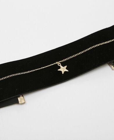 Colliers choker velours et étoile doré - Pimkie