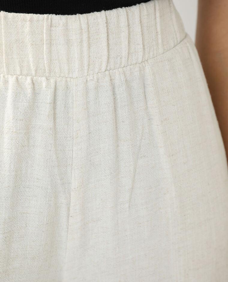 Pantalon wide leg écru - Pimkie