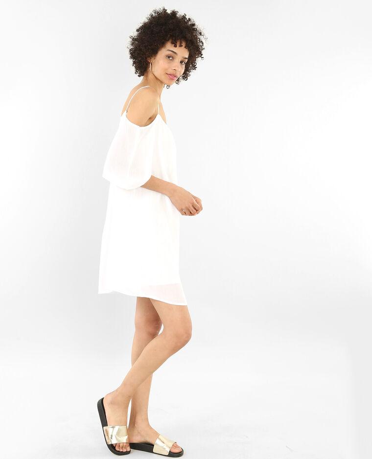 Robe à manches peekaboo blanc