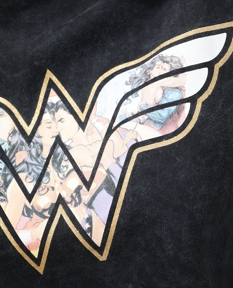T-shirt à épaulettes Wonder Woman gris anthracite - Pimkie
