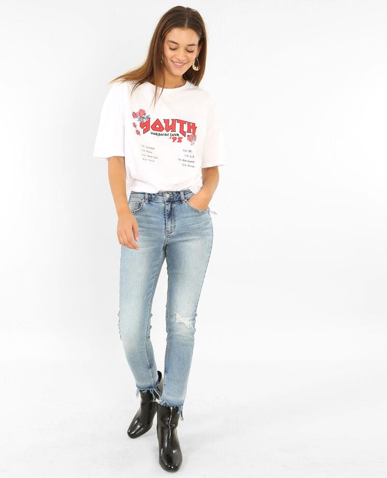 T-shirt rock blanc