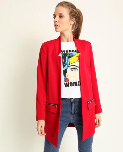 6f2e5d88093 Manteau léger rouge