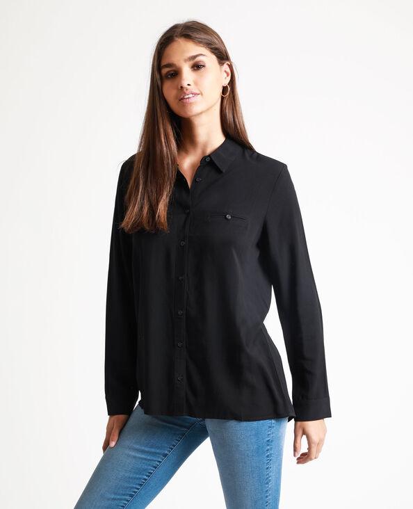 Chemise boutonnée noir