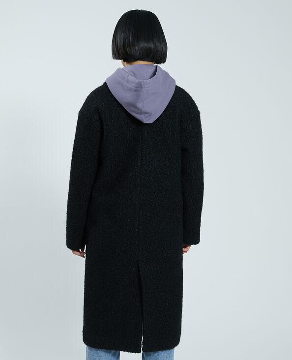 Manteau pardessus effet bouclette noir - Pimkie