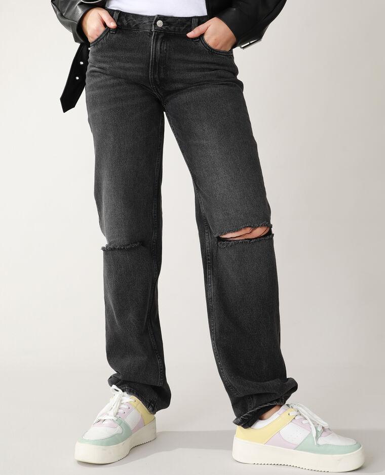Jean straight high waist noir - Pimkie