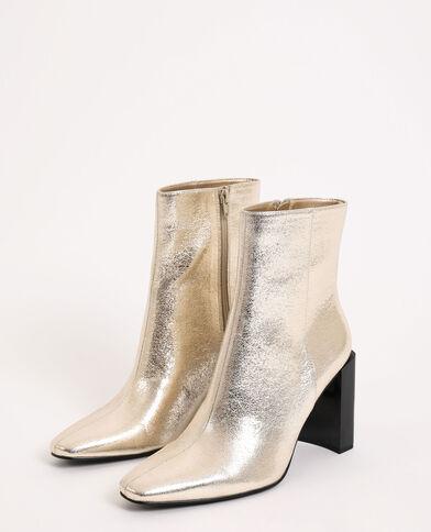 Boots à talons doré