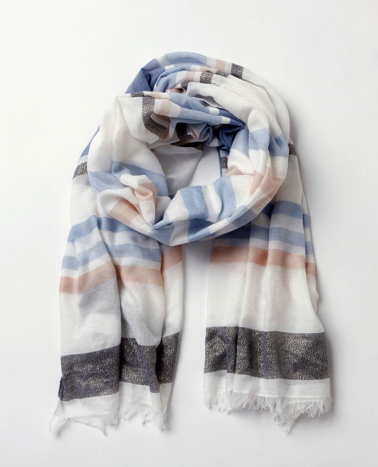 Foulard tissé lurex blanc - 902281B15C7G   Pimkie 7f1ee97f2f5