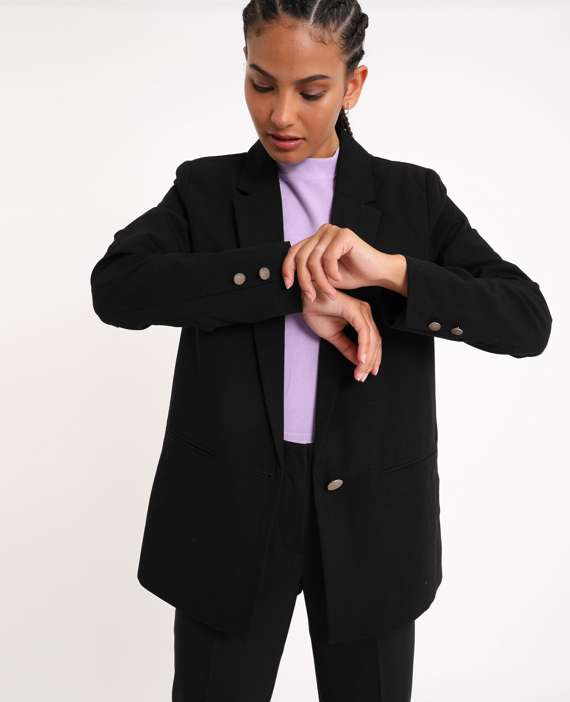 Veste blazer noir 323198899A08 | Pimkie