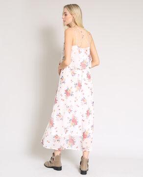 Robe longue fleurie blanc