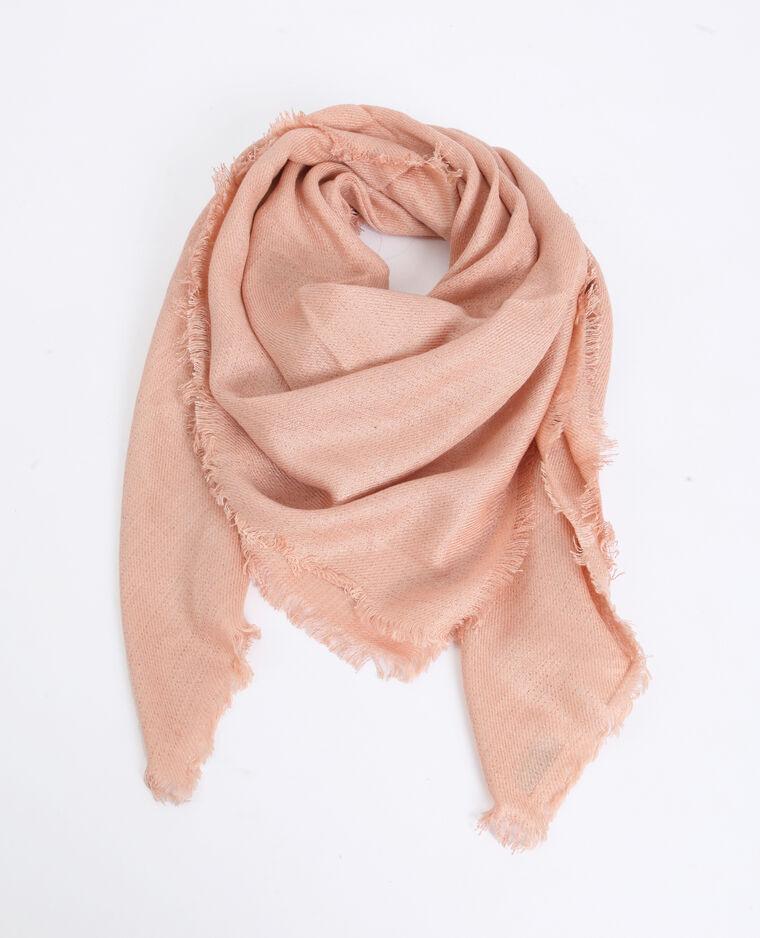 Foulard carré rose