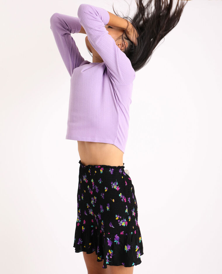 T-shirt cropped lilas