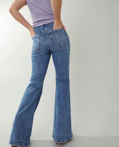 Jean flare high waist bleu denim