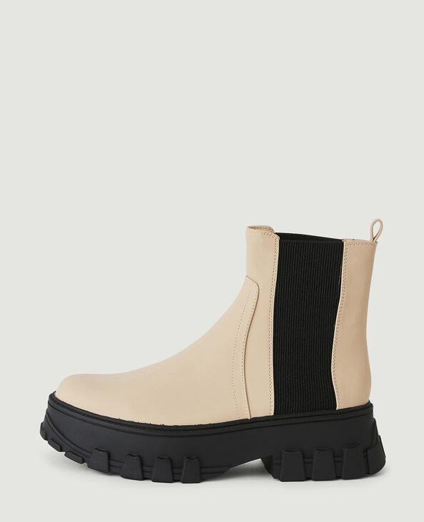 Boots bicolores gris - Pimkie