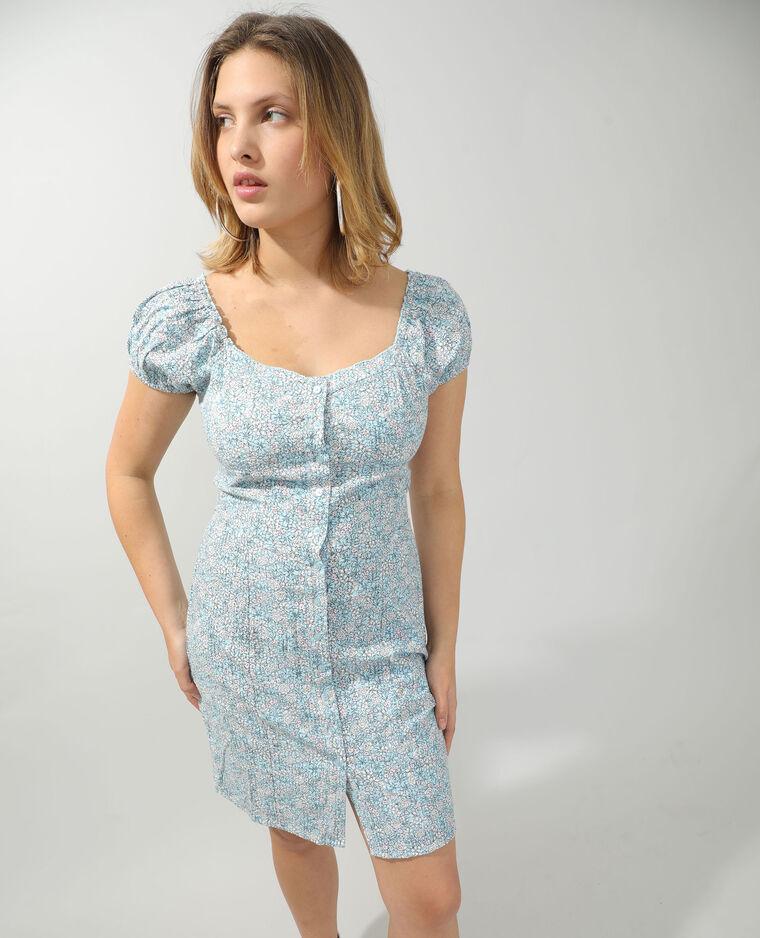 Robe fleurie bleu - Pimkie