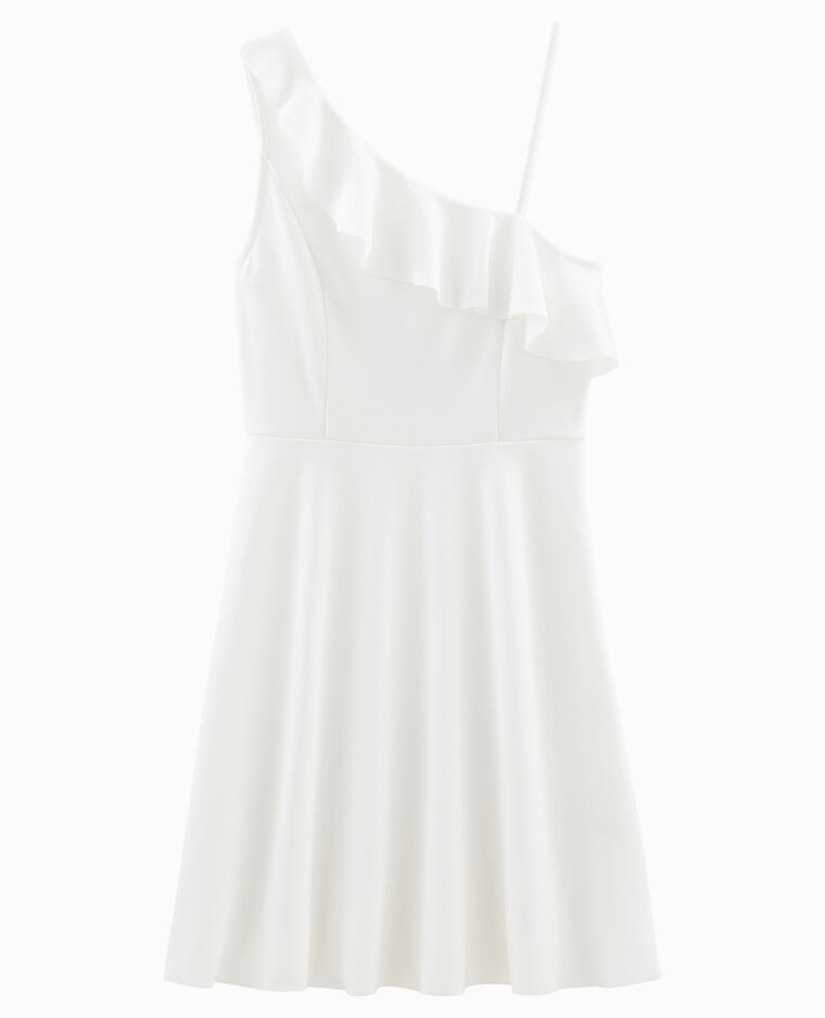 03e4b3eb9b9b Robe asymétrique blanc cassé - 781235912A09