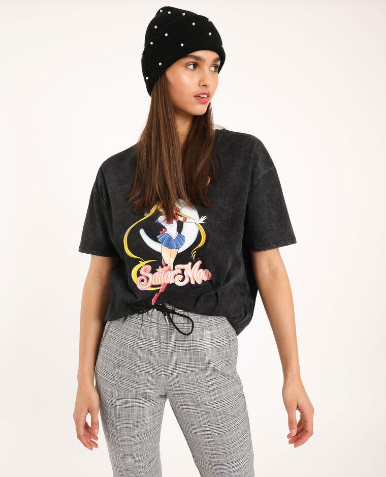 T-shirt Sailor Moon gris anhracite