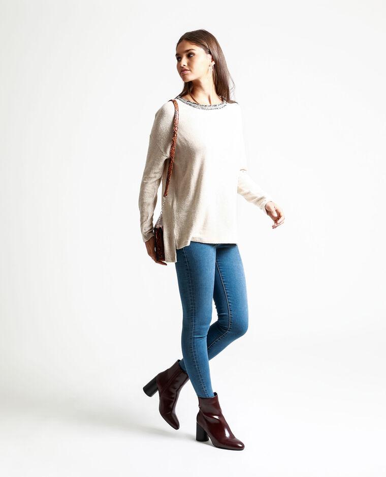 T-shirt à manches longues beige