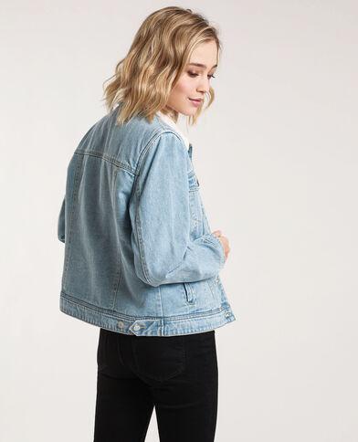 Veste en jean doublée bleu