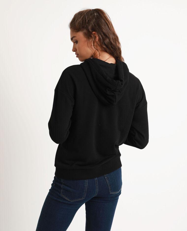 Sweat à capuche zippé noir