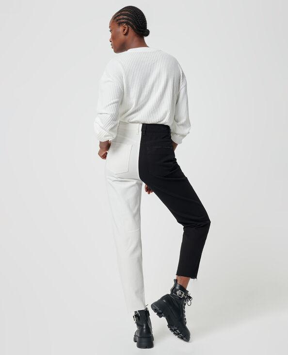 Jean bicolore noir - Pimkie