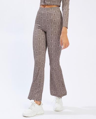 Pantalon flare marron - Pimkie
