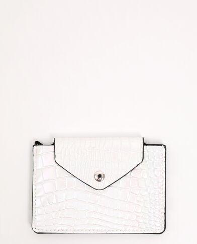 Porte-monnaie simili cuir blanc - Pimkie