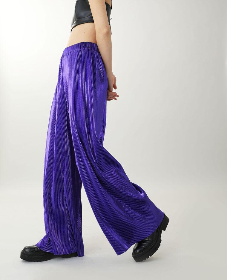 Pantalon large violet