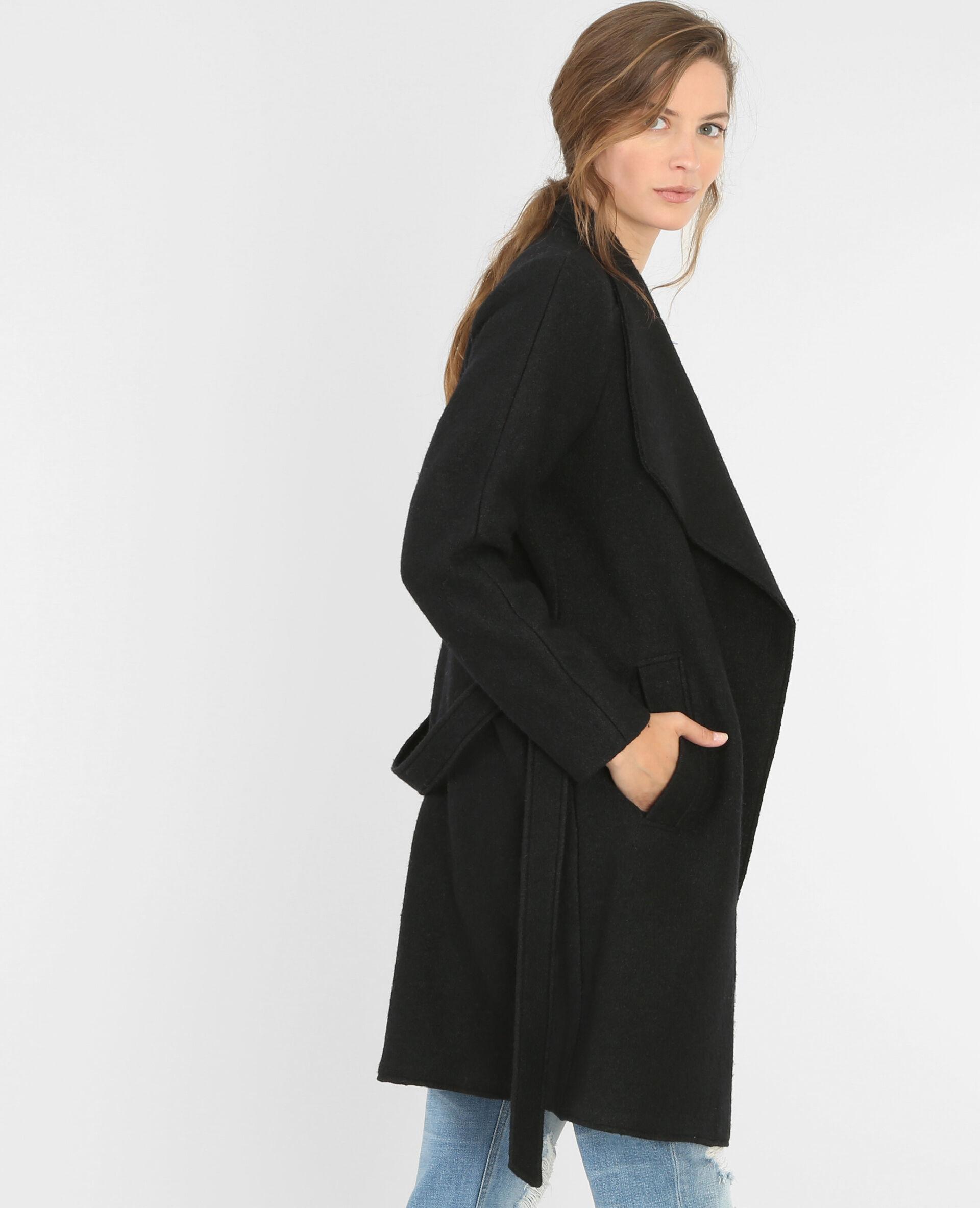 Manteau long tricot pour femme