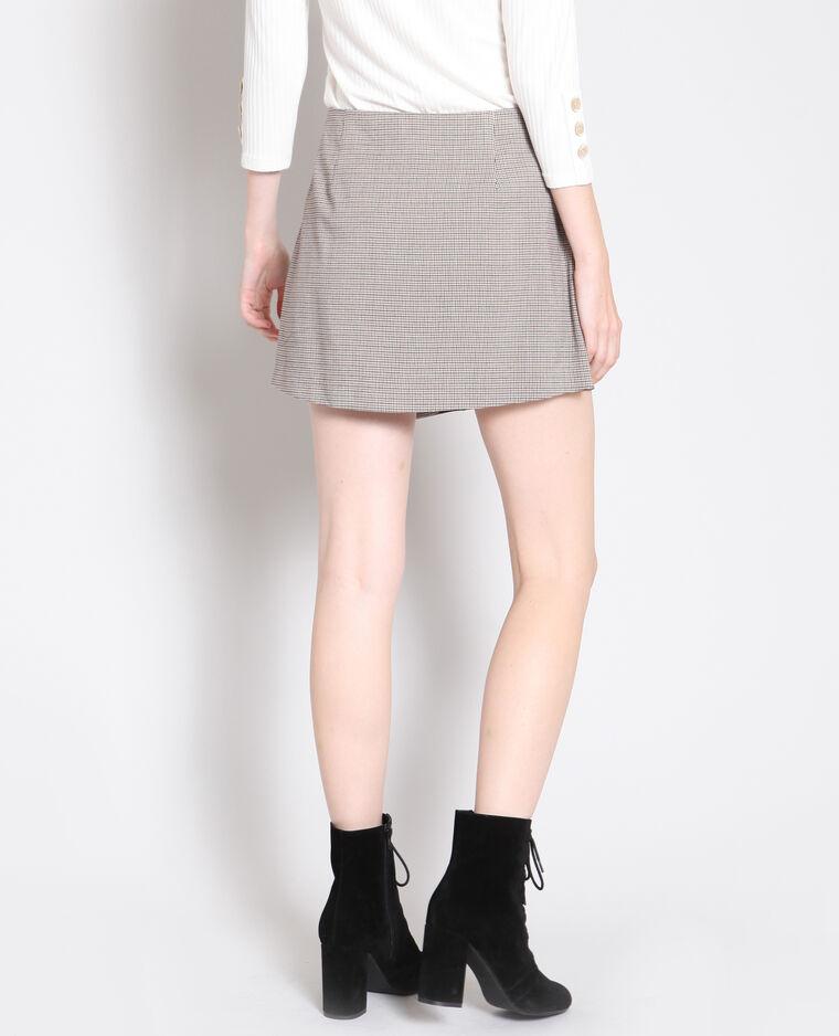 Jupe short noir + marron - Pimkie
