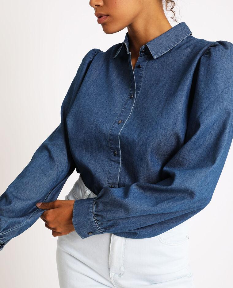 Chemise en jean bleu foncé - Pimkie