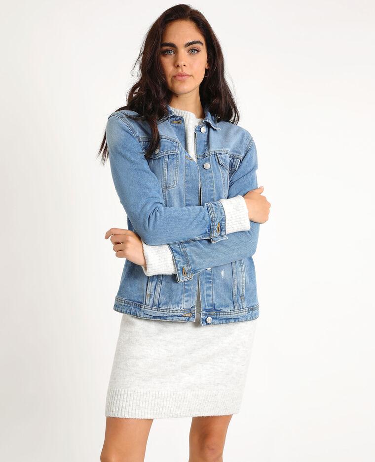 Veste en jean large bleu denim