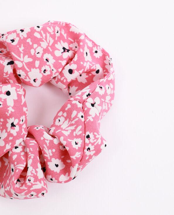 Chouchou à petites fleurs rose